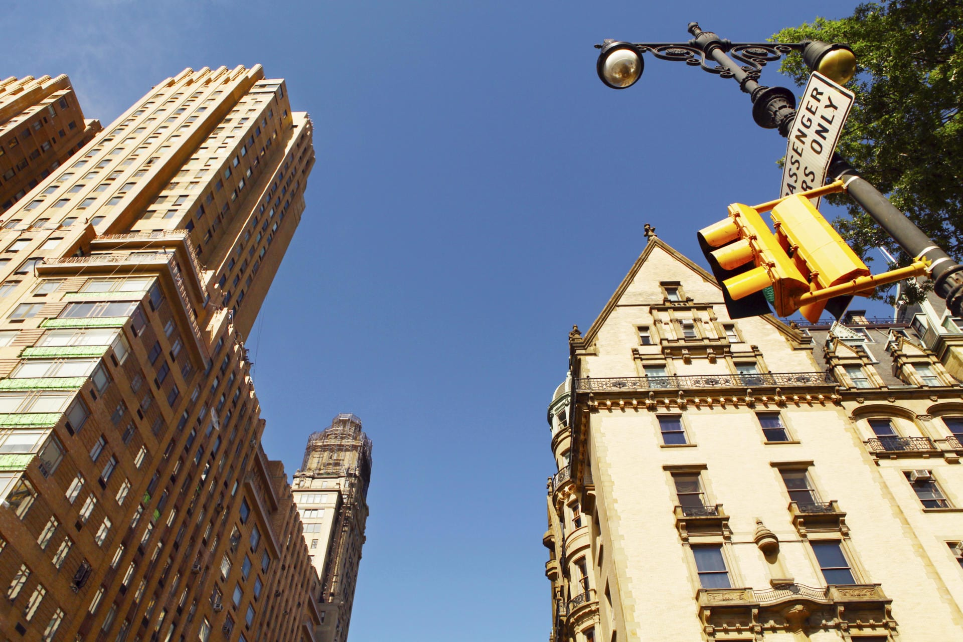 Buffalo Website Design Company - Low angle view of Buffalo, NY buildings against clear blue sky -