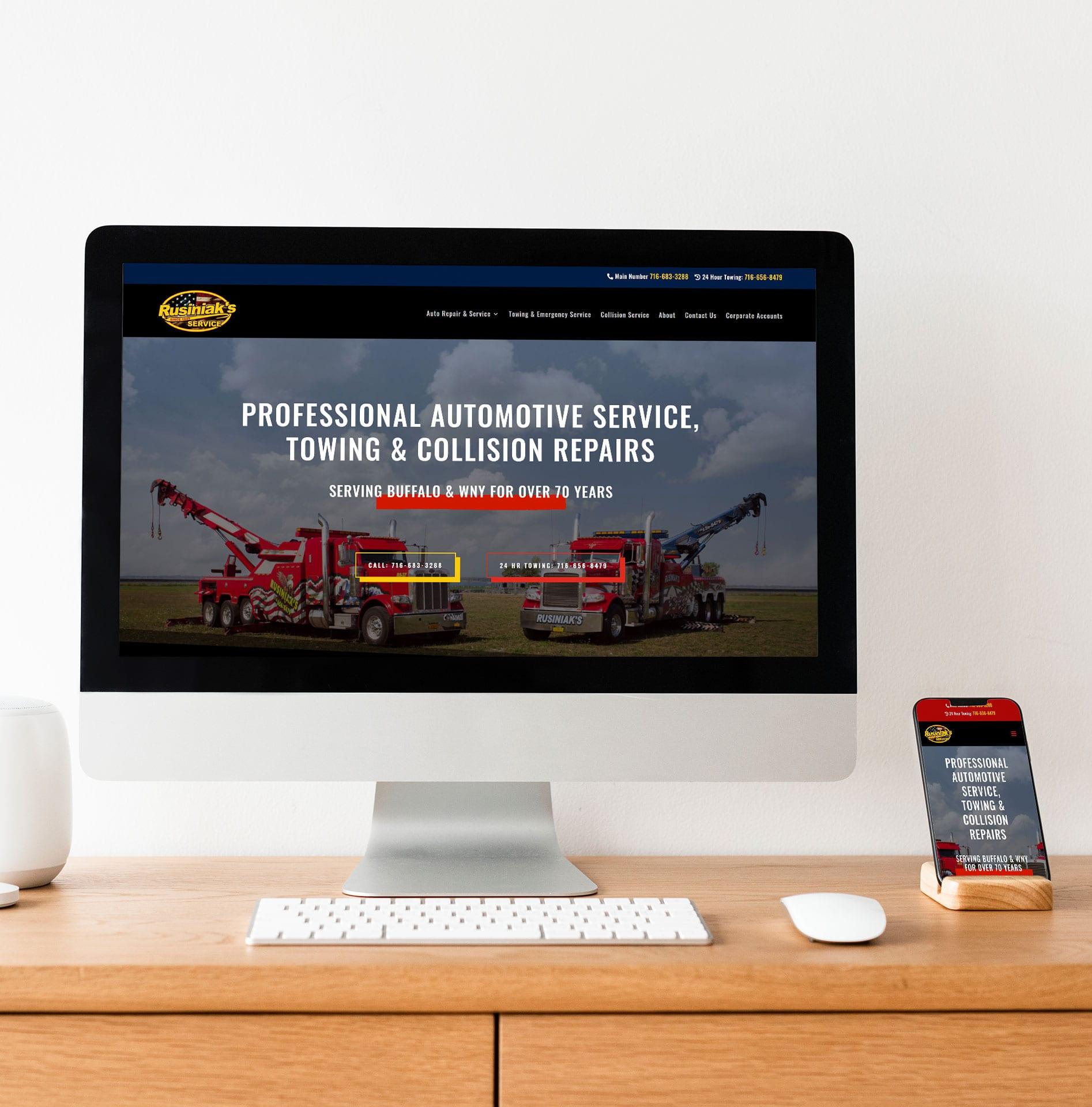 Image of Rusiniak's Buffalo Web Design Project